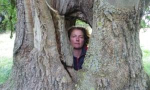 Lisa Samson with an ash tree