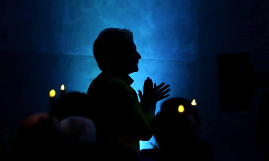 Hillary Clinton takes the stage to speak during a fundraising event for the Big Sister Association of Greater Boston.