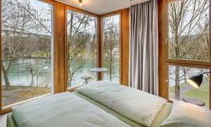 Riverside bedroom at Bern Youth Hostel, Bern