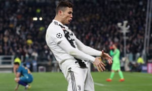Cristiano Ronaldo celebrates as Juventus knocked Atlético Madrid out of the Champions League.