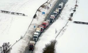 Traffic stuck on A1