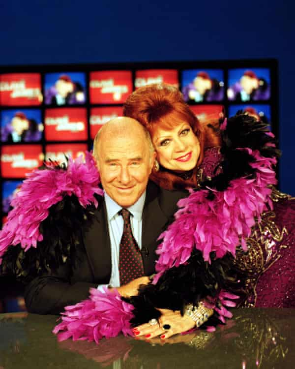 Margarita Pracatan with Clive James on the set of his ITV show in 1997. 'She is us, without the fear of failure,' said James.