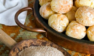 Brazilian pao de queijo, cheese bread, Brazil, South America