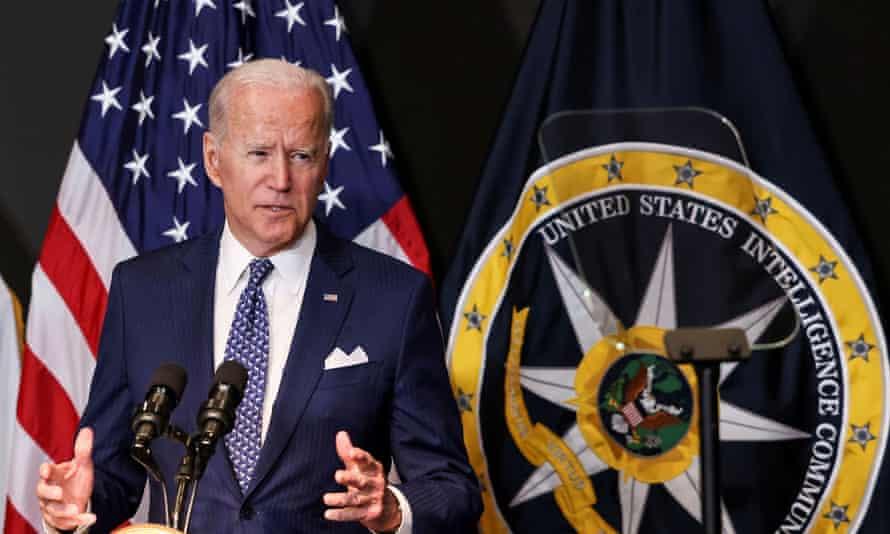 Joe Biden in McLean, Virginia, on Tuesday.