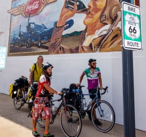 Cyclists on Route 66.