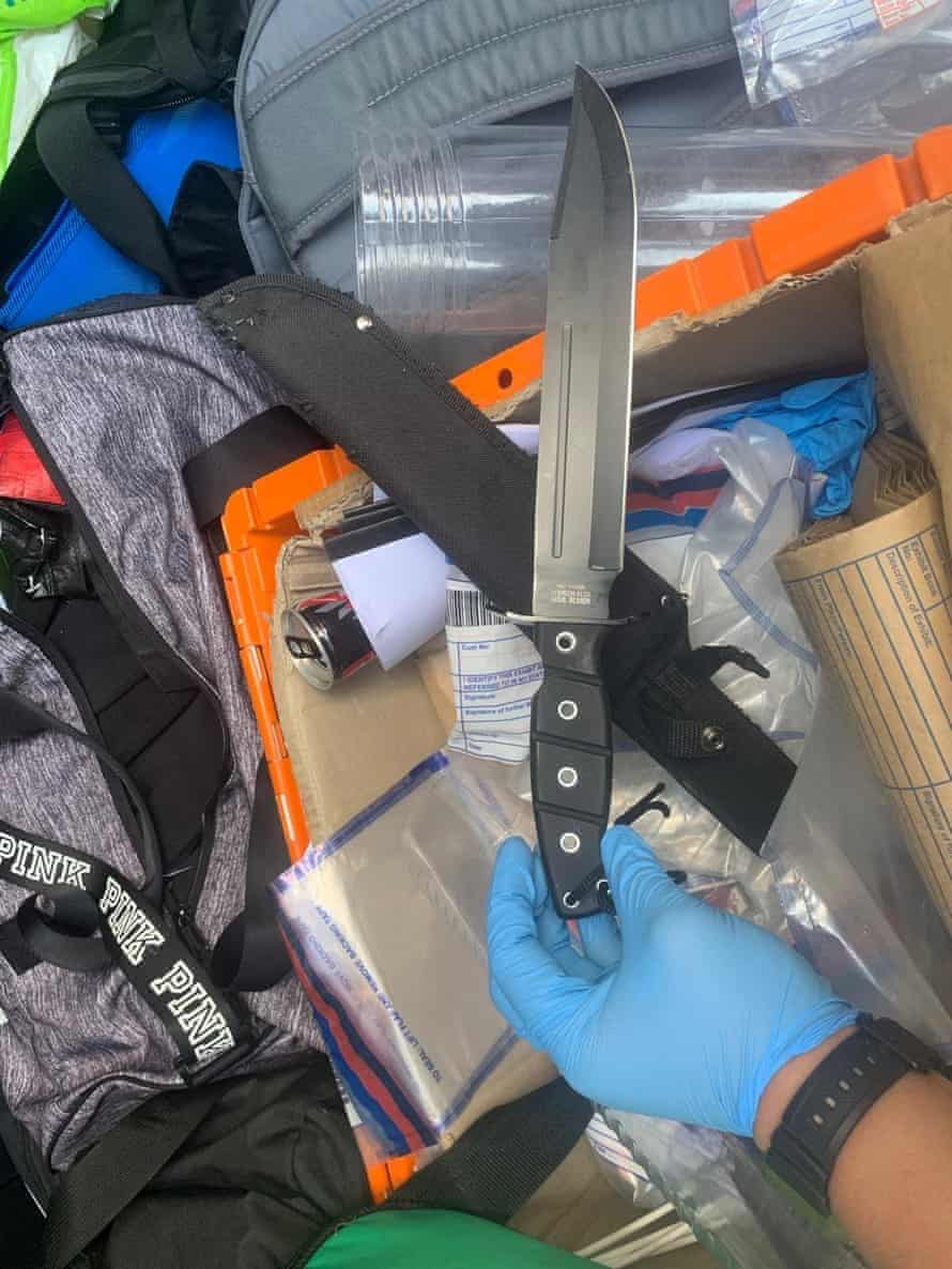 A knife seized by police in an arrest by the VSU in Croydon in May.