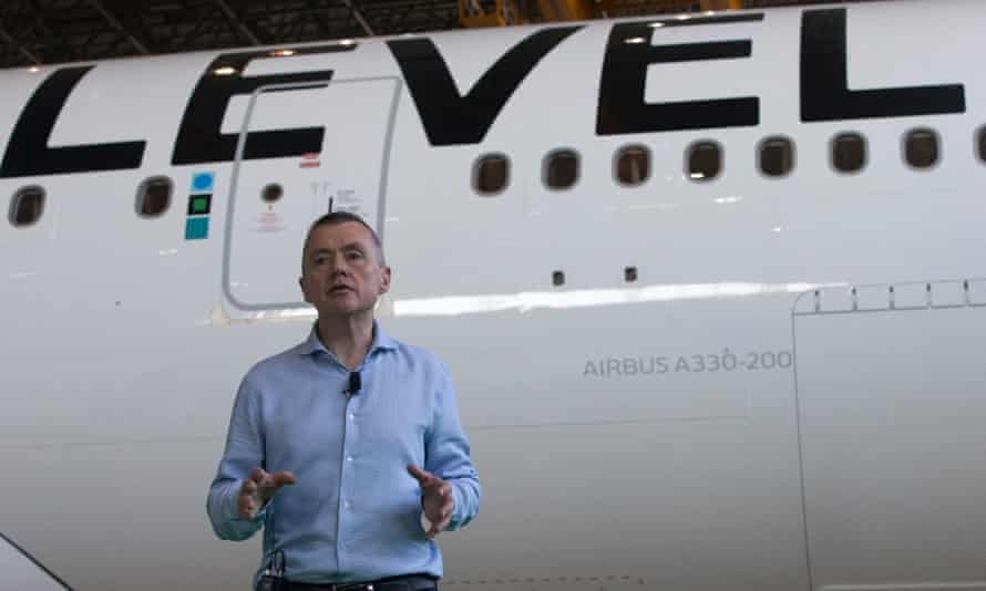 Willie Walsh speaks during the launch of low-cost airline Level in Barcelona last week.