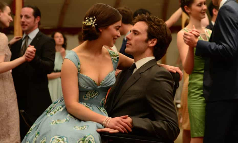 Let's laugh in the face of disaster! … Emilia Clarke and Sam Claflin in Me Before You.
