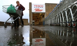 The Tesco Superstore in Kirkcaldy, one of the 43 loss-making stores the company has closed since January.