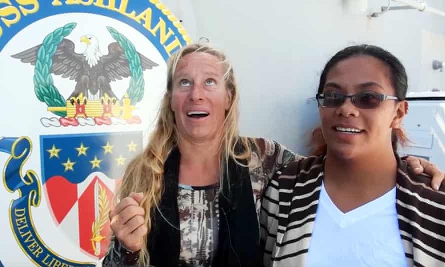 Jennifer Appel, left, and Tasha Fuiava
