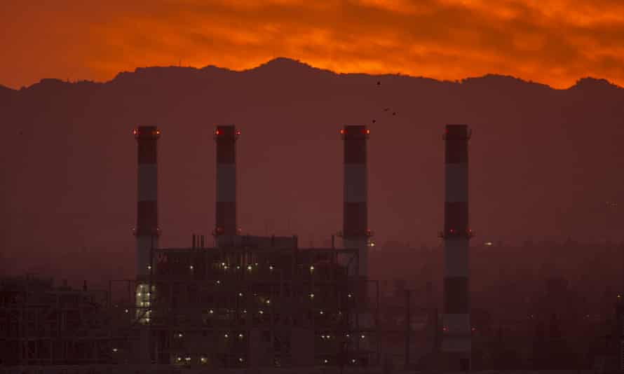 The gas-powered Valley Generating Station in the San Fernando Valley on 10 March 2017. Trump officials have been attempting to create a coronavirus relief program for oil and gas corporations.