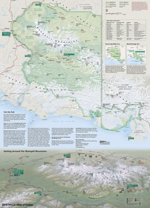Wrangell-St. Elias National Park and Preserve, by Tom Patterson of the National Park Service, offers a 3D panoramic view to reveal the immense glaciers, volcanic terrain, and boreal vegetation of this wild National Park