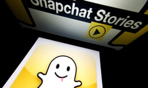 Not so happy now: Snapchat's logo is displayed on a tablet.