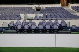 The Spurs home dugout now sits over a metre above the astroturf pitch
