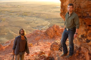 'A gorgeous film to watch, but a better one to think about': Aaron Pedersen and Alex Russell in Ivan Sen's Goldstone.