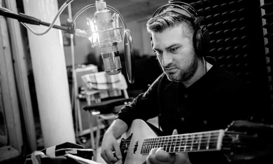 Songs of melancholia … Damir Imamović in the studio.