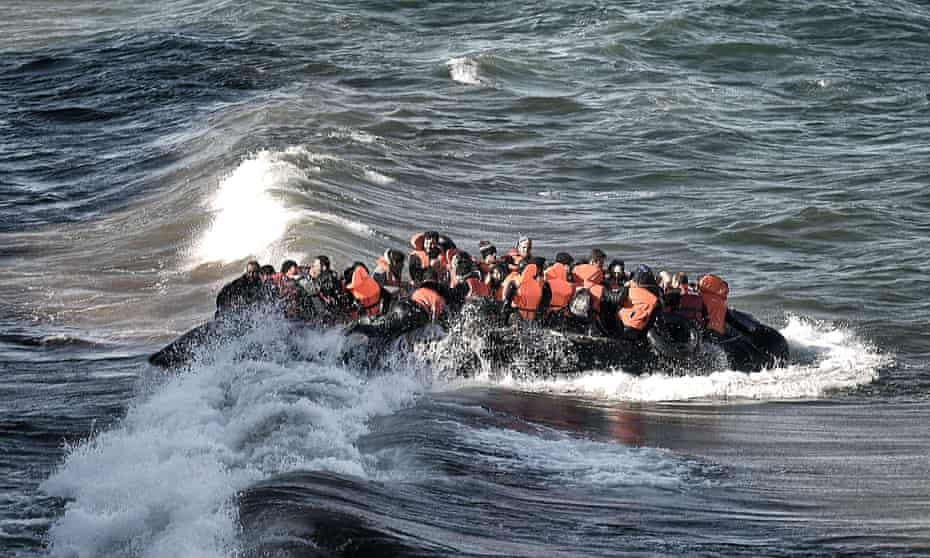 Refugees and migrants arriving in Greece.