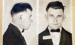 Booking shots of John Dillinger as a 21-year-old in 1924.