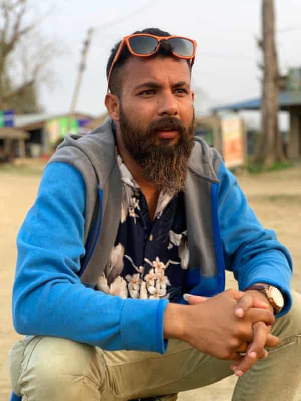 Former wildlife guide, Ashish Kadariya, at Chitwan national park in Nepal