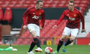 Phil Jones and Wayne Rooney