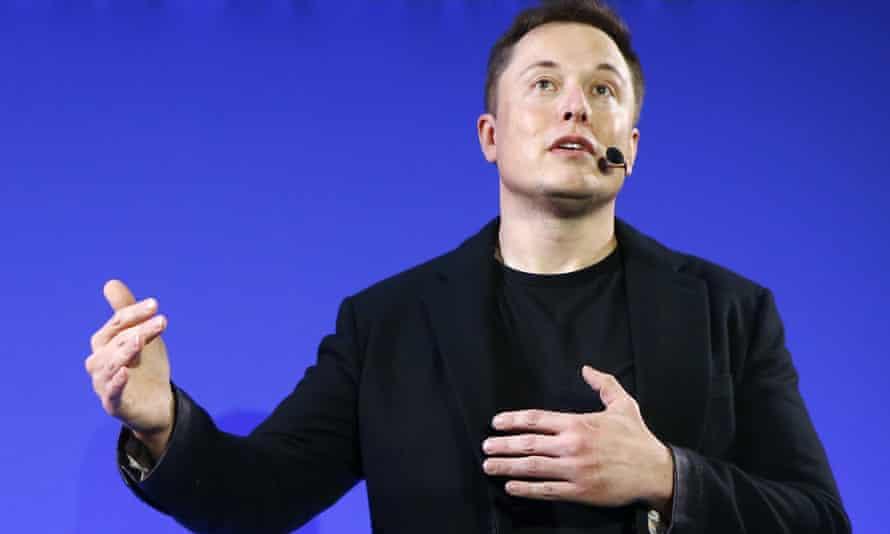 Elon Musk on stage