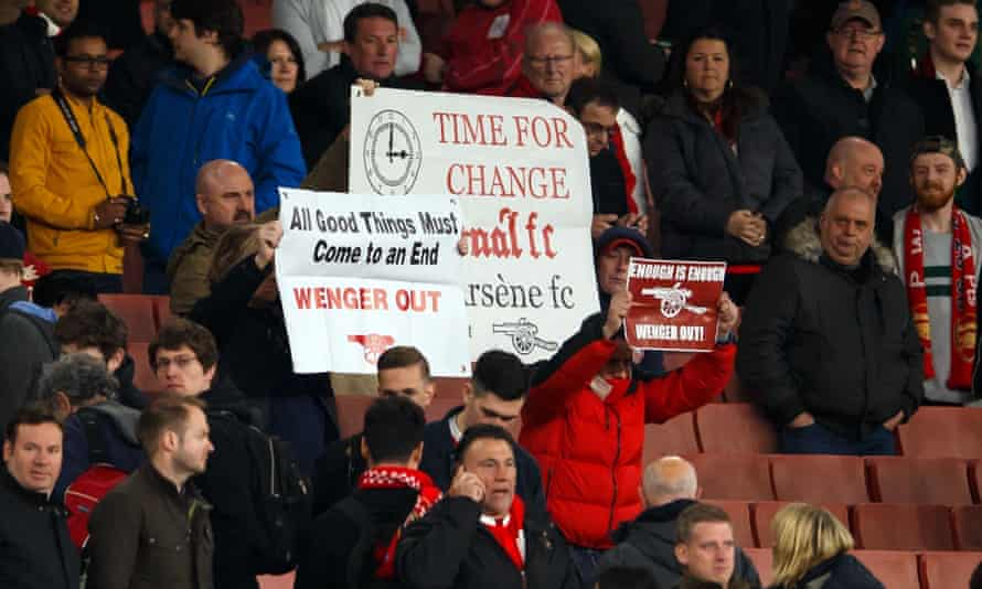 Arsenal supporters protest