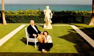 Conrad Black and Barbara Amiel at their Palm Beach mansion, Florida, 2004.