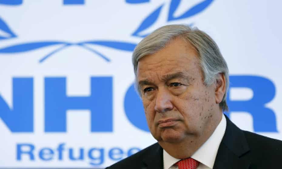 The United Nations High Commissioner for Refugees, Antonio Guterres, said he believed a reduction in western funding for Syrian refugees had been the trigger for this summer's influx to Europe.
