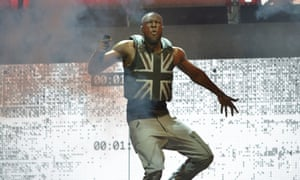 Stormzy, who has become Glastonbury's first black British headliner.
