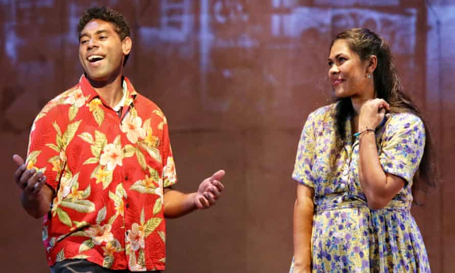 Marcus Corowa as Willie and Teresa Moore as Rosie in the Opera Conference production of Bran Nue Dae