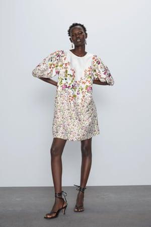 Floral dress, Zara.com.
