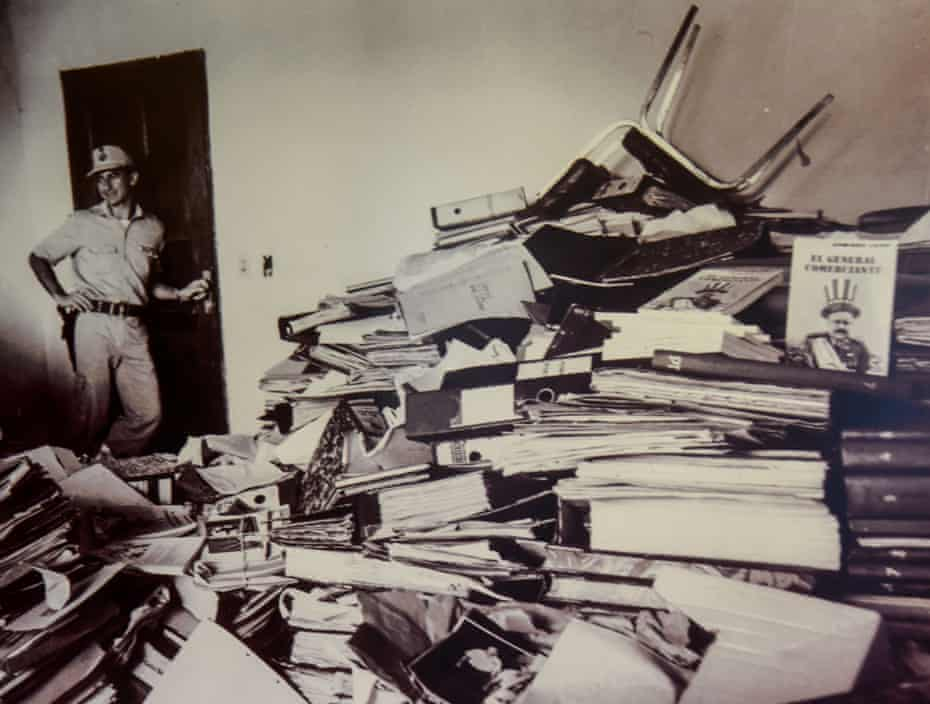 """The """"Archives of Terror"""", papers relating to Operation Condor, seized in Paraguay in 1992."""