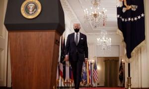 President Joe Biden delivers a nationwide address on the US anniversary of the coronavirus pandemic.