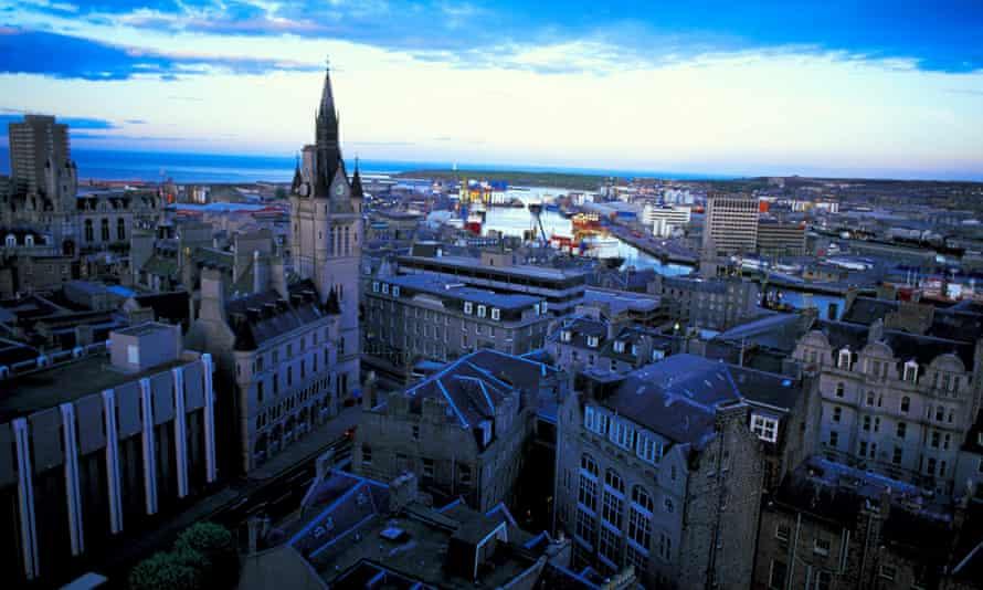 City view of Aberdeen, Scotland