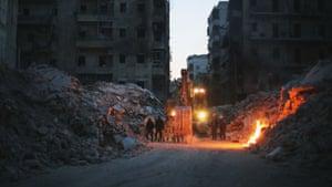 A scene from Last Men in Aleppo.