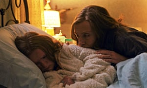 Genetic curse … Milly Shapiro and Toni Collette in Hereditary.