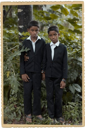 An image from Pizarro's series Good Things Come Together, taken in Kodinhi in Kerala, India – the place with the highest rate of twin births in the world