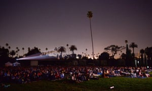 A screening at Hollywood Forever cemetery.