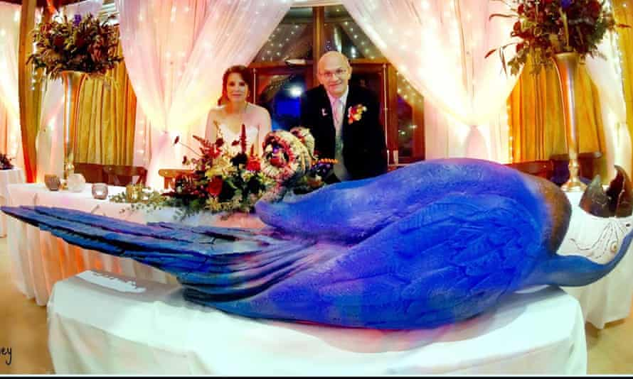 John Wood and Gemma Harris on their wedding day