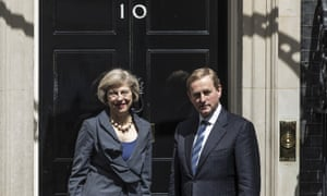Irish taoiseach Enda Kenny with Theresa May in Downing Street just a month after the referendum vote.