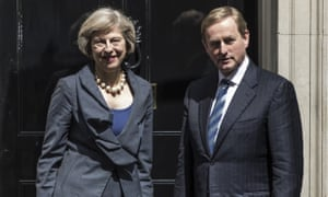 Enda Kenny with Theresa May outside 10 Downing Street, after the Brexit vote.