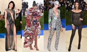 Kendall Jenner, Rihanna, Cara Delevingne and Bella Hadid on the red carpet.
