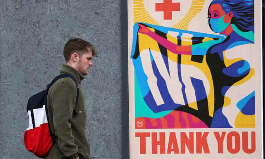 A Thank You NHS poster in Glasgow.