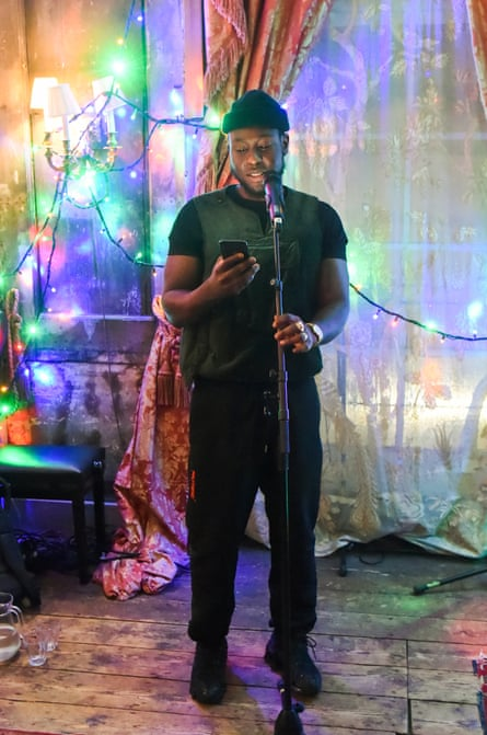 Femi performs at Mulberry's 'My Local' Festive Event, November 2019.