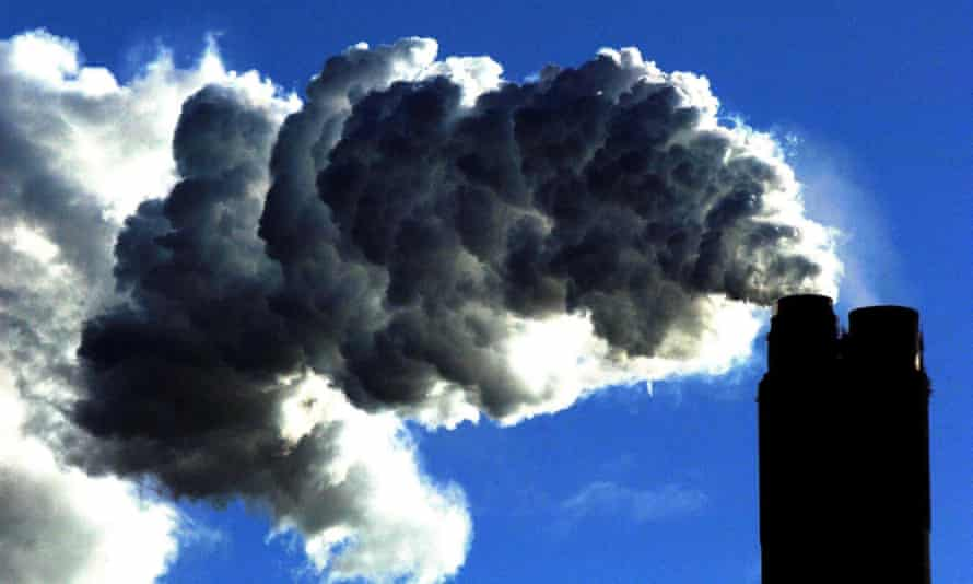 Carbon dioxide from a coal-fired power plant