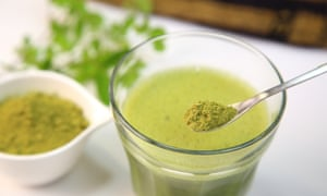 Moringa powder ... although the fresh version is far better value for money.