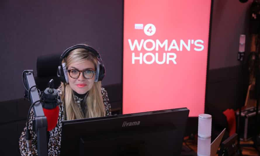 Emma Barnett on her first day hosting Woman's Hour on Radio 4 on 4 January 2021.
