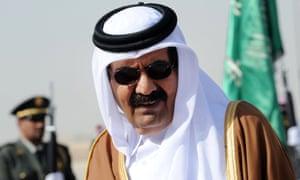 Emir of Qatar, Sheikh Hamad bin Khalifa al-Thani.