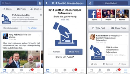 Facebook's 'get out the vote' button