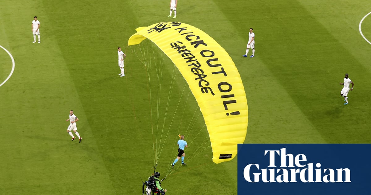 Several people injured after protester parachutes into Euro 2020 game